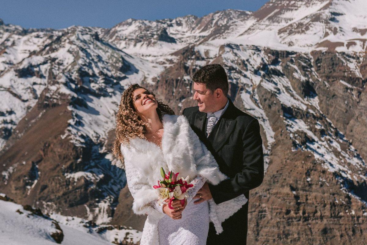 fotografia matrimonio valle nevado
